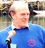 Tony White - our Special Correspondent - and Village Postmaster, Polperro